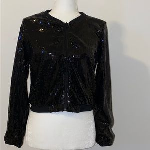 H&M Sequined Bomber Jacket. Size 10